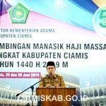 Bupati Buka Acara Bimbingan Manasik Haji Massal Tingkat Kabupaten Ciamis Tahun 1440 H