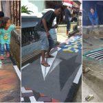 Indah dan Menarik Untuk Selfie, Lukisan 3D Sepanjang Jalan Gang Lingkungan RW 02 Dusun Cidoyang Desa Sukakerta Kecamatan Panumbangan