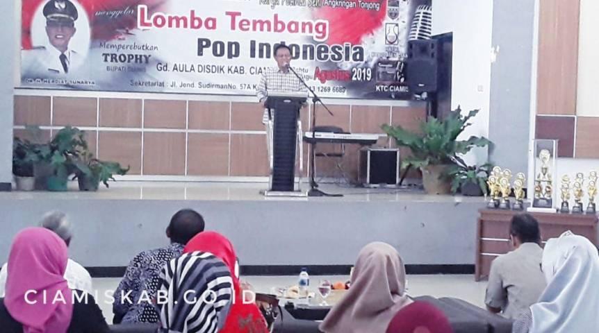 Bupati Buka Lomba Tembang Pop Indonesia di Aula Disdik Kabupaten Ciamis