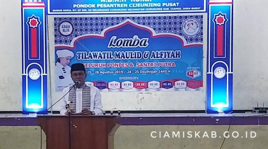 Bupati Buka Lomba Tilawatil Maulid dan Alfiyah Pondok Pesantren Se-Provinsi Jabar