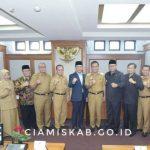 Bupati Hadiri Evaluasi Kinerja Penyelenggaraan Pemerintahan Daerah Atas Laporan Penyelenggaraan Pemerintahan Daerah 2018