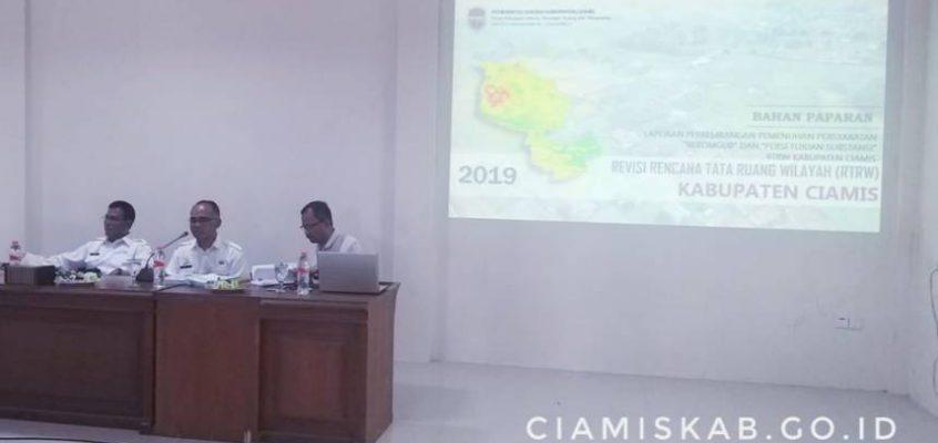 Progres Penyusunan Revisi RTRW Kabupaten Ciamis 2019 – 2039