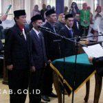 Rapat Paripurna DPRD Kabupaten Ciamis Dalam Rangka Pelaksanaan Pengucapan Sumpah Janji Pimpinan DPRD Masa Bakti 2019 - 2024