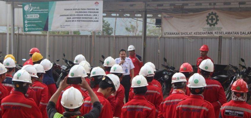 BNNK Ciamis Tes Urine Pegawai PT Waskita Adhi KSO  Pembangunan Proyek Bendungan Leuwikeris Paket 2