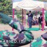 Bupati Ciamis Sebagai Inspektur Pada Upacara HUT Ke-47 TNI di Kota Banjar