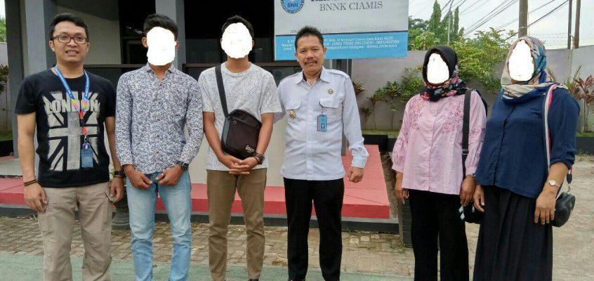 BNNK Ciamis Laksanakan Pendampingan dan Pengantaran Penyalahguna Narkoba  Ke Balai Besar Rehabilitasi BNN