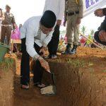 Bupati Ciamis Letakan Batu Pertama Pembangunan Sekolah Tahfidz Al Qur'an Nurul Huda Panumbangan