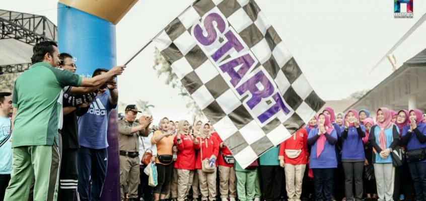 Gelar Gerak Jalan Sehat, Bupati Ciamis Ajak Masyarakat Menjaga Kebersihan