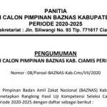 Hasil Seleksi Calon Pimpinan Baznas Kabupaten Ciamis Periode 2020-2025