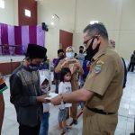 Forum Agen Mandiri e-Warong Ciamis Berikan Santunan Anak Yatim