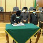 Bupati Ciamis Hadiri Rapat Paripurna Perihal Perubahan RPJMD Tahun 2019-2024.