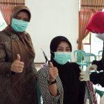 Pengurus TP-PKK dan DWP Kabupaten Ciamis Ikuti Vaksinasi Covid-19