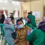 Wakil Bupati Ciamis Pantau Akselerasi Vaksinasi Covid-19 Tahap ke-2.