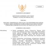 Keputusan Gubernur Jawa Barat Nomor: 443/Kep.348-Hukham/202143 Tentang Protokol Pemeriksaan, Penjualan, dan Penyembelihan Hewan Kurban, Serta Distribusi Daging Kurban pada Masa Pandemi Coronavirus Disease 2019 (Covid-19) Tahun 2021 M/1442 H