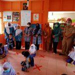 Monitoring Pembelajaran Tatap Muka, Bunda PAUD Ciamis Fokus Penerapan Prokes