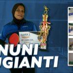 "Bertanding  ""Bak Gladiator"", Nuni Sugiani Juarai Tenis Meja Ardan – PHRI Cup Ke-1"